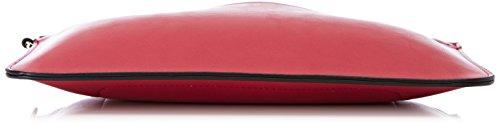 YNOT Bre009/Pe18, Borsa a Tracolla Donna, 0.5x18x28 cm (W x H x L) Rosa (Fuxia)