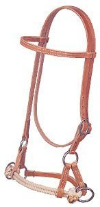 Pull Double Rope Side - Weaver Bridle Leather Side Pull Training Headstall Double Rope