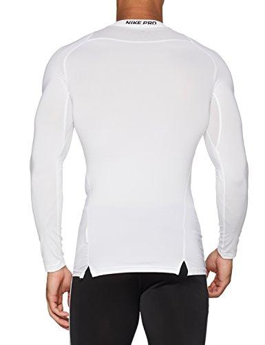 Nike Pro Longsleeve Compression Shirt (White, M) by Nike (Image #2)