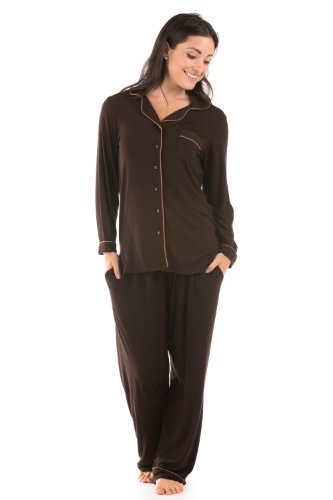Women's Button-Up Sleepwear Set (Classic Comfort) Eco-Friendly ...