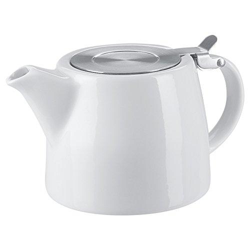 Benail 18 oz Tea pot with infuser and SLS lid (White)