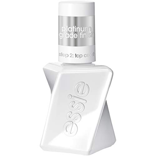 essie Top Coat Nail Polish, Gel Couture Platinum Grade Finish Top Coat, Top Coat, 0.46 Fl. Oz. (Packaging May Vary )