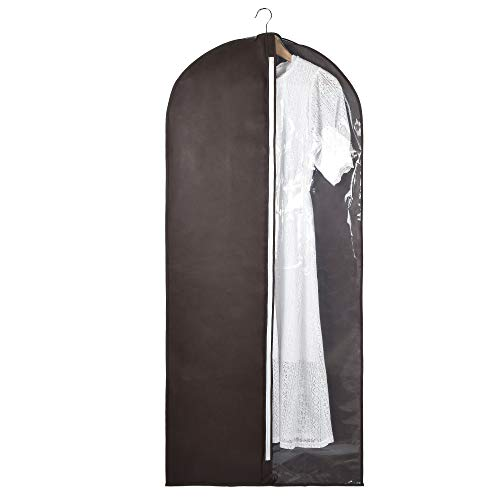 ITIDY Garment-Bags, Dress Bags for Home Storage and Travel, Breathable Clothing Storage Bag for Dress or Long Coat, Lightweight Dress Dust Cover with Clear View-Through Panel