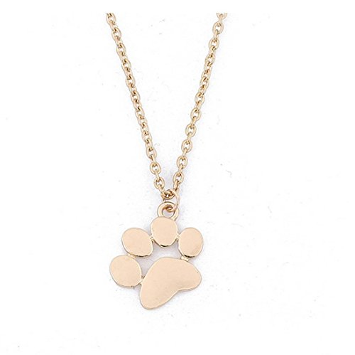 Women Fashion Dog Paws Necklace Jewelry Charm Chain Choker Pendant ()