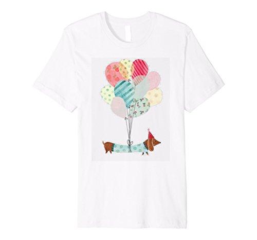 - Beautiful Dachshund Dog Colorful Balloons T-Shirt