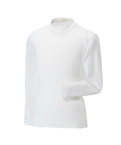 なに弾性ヘルシービジョンクエスト ジュニア アンダーウェア 長袖 アンダーシャツ モックTシャツ VQ451501G02 WH 160