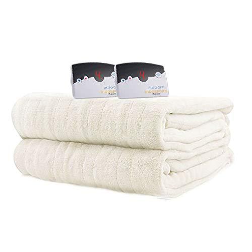 Biddeford 2033-905191-705 MicroPlush Electric Heated Blanket Queen Ivory