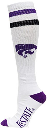 NCAA Kansas State Wildcats Tube Sock, White, One Size by Donegal Bay