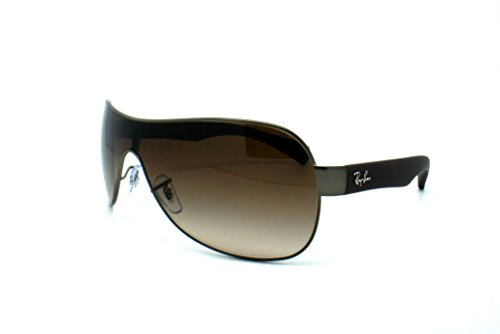 New Ray Ban RB3471 029/13 SHIELD Gunmetal/Brown Gradient Lens 32mm Sunglasses