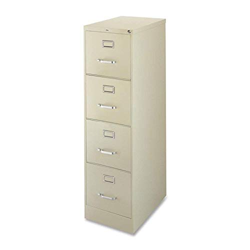 (Lorell 4-Drawer Vertical File, 15 by 22 by 52, Putty)