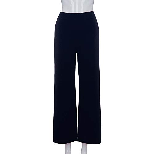 Vita Tinta pantalone Unita Straight Svago Forti Navy Baggy Da Alta KZ8 Taglie Pantaloni Mambain Donna qUwATw4