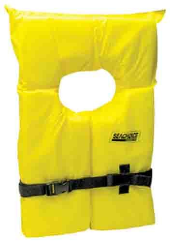 Seachoice Adult Universal Type II Life Vest Pack, Yellow , 4-Pack by SEACHOICE