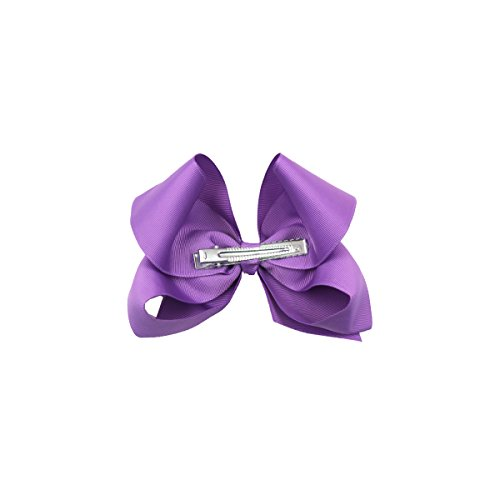 0f2762199 30Pcs Hair Bows for Girls 6 Inches Large Big Grosgrain Ribbon Bows  Alligator Hair Clips in