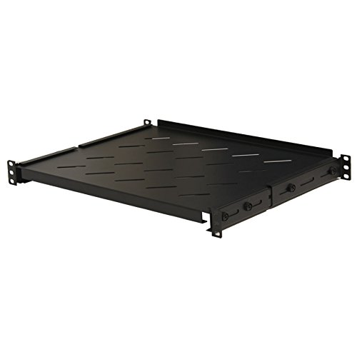 Navepoint Fixed Rack Vented Server Shelf 1U 19'' 4 post Rack Mount Adjustable from 14 - 23'' by NavePoint