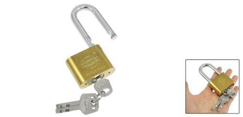 eDealMax 3.7 de alta Gabinete Jewlery caja de latón de 50 mm Anchura del candado de oro del tono w 3 claves - - Amazon.com