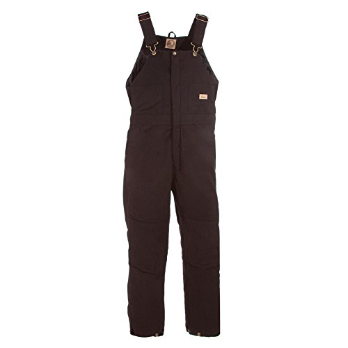 Berne Women's Washed Insulated Bib Overalls Short Dark Brown ()