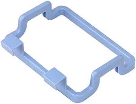 HHoo88 Portable Kitchen Trash Bag Holder Incognito Cabinets Cloth Rack Towel Rack Plastic Bag Holder for Kitchen, Bathroom, Dorm Room, Office Garbage Bags Storage Rack (Blue)