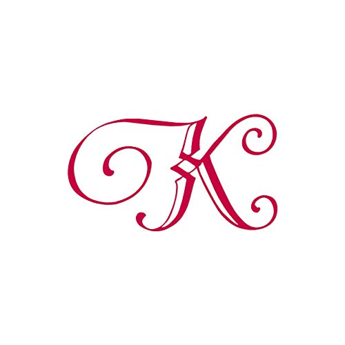 "Monogram Font K Initial - Vinyl Decal Sticker - 10.25"" x 5.75"" - Red from Southern Decalz"