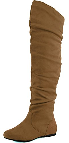 Camel Back Arch (DailyShoes Women's Fashion-Hi Over the Knee Thigh High Boots, Camel Sv, 13 B(M))