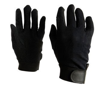 Dublin Good Hands Track Riding Gloves - Black, Lg - Good Hands Track Gloves