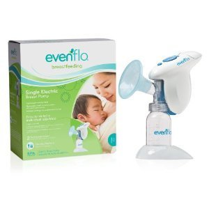 Baby / Child Consistent Suction Evenflo Single Breast Pump Flange Size Accommodates Most Moms BPA Free Infant