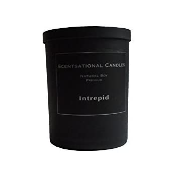 Scentsational Candles, Natural Soy Premium Candle, Intrepid (Man Candle)