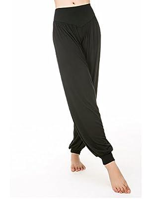 Michelle&A Women's Plus Size Harem Pants Yoga Pants Workout Baggy Pants Casual Trousers Folded Design Leg Pants