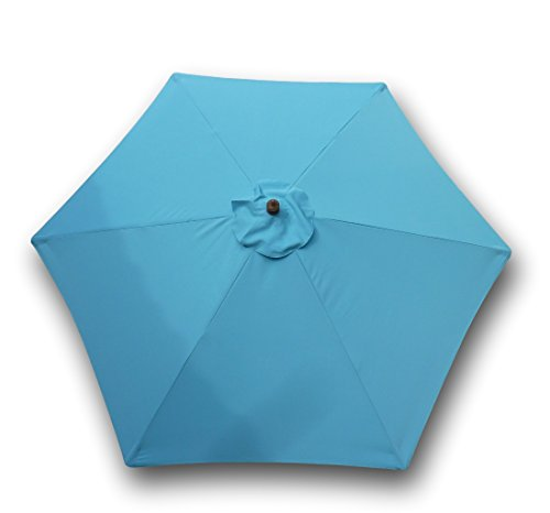 Light Blue Garden Parasol in US - 7
