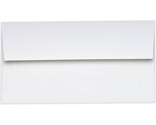 Photo Greeting Card Invitation Envelopes (4 3/8 x 8 1/4) - 70lb. Bright White (50 Qty.)