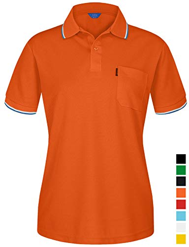 (EZEN Women's Ladies V-Neck Pullover Short Sleeve Sports Shirts Quick-Drying Tees Orange XX-Large)