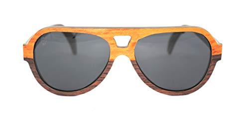 Óculos De Sol De Madeira Lupo Brown, MafiawooD