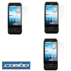 Durable Clear Reusable LCD Screen Protector - 3 Packs for T-mobile HTC G1 Google Phone ()