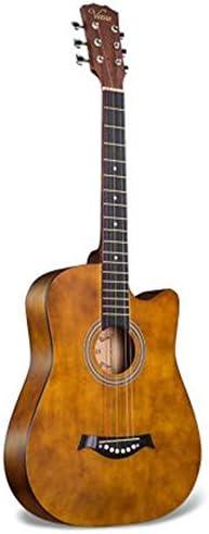 アコースティックギター 学生の練習フォークギター初心者ギター男性と女性38インチの木製ギター 初心者 (Color : Brown, Size : 38 inches)