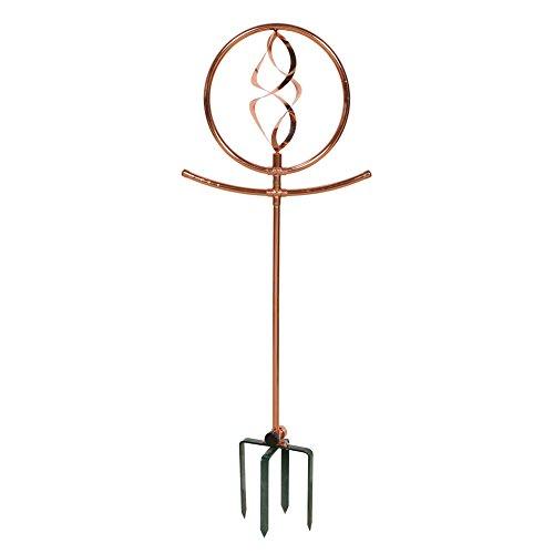 Copper Water Sprinkler - Decorative Spinning Spiral By Esschert Design - 36.5