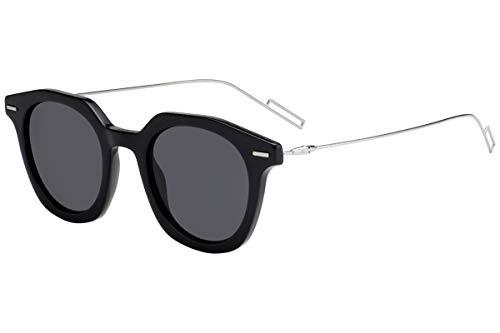 Christian Dior Homme DiorMaster Sunglasses Black w/Grey Blue Lens 47mm 807IR Dior Master Dior Master/S DiorMaster/S
