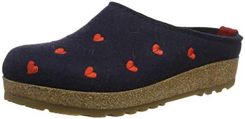 70 Haflinger Couriccini Donna Pantofole Grizzly Mittelblau Blu PwvqSfHw