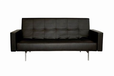 Coaster 300143 Coaster Convertible Sofa Sleeper with Storage in Plush Dark Brown Faux