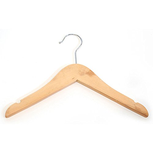 Kids Top Hanger Clothes Display Retail Store Fixture 11'' Natural Lot of 100 NEW by Unknown