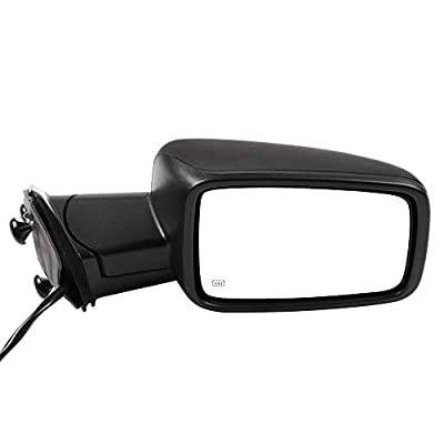 cciyu Black Right Side View Mirror Manual Folding Heated Turn Signal Fit for 2009-2010 Dodge Ram 1500 2011-2013 Dodge Ram 1500: Automotive