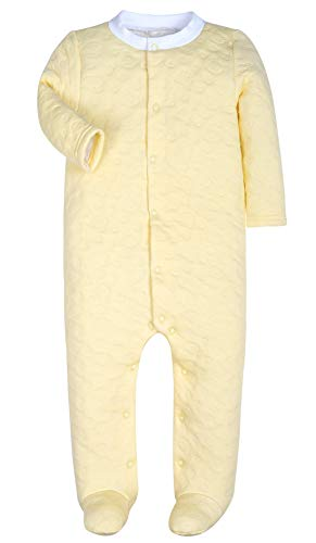 Yellow Footed Sleeper Pajamas - Baby Boys Girls Warm Long-Sleeve Footed Pajamas Sleeper Rompers(Yellow Bear,6-9M)