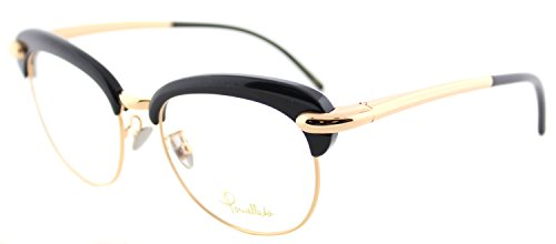 pomellato-pm-0021o-001-black-gold-plastic-round-eyeglasses-52mm