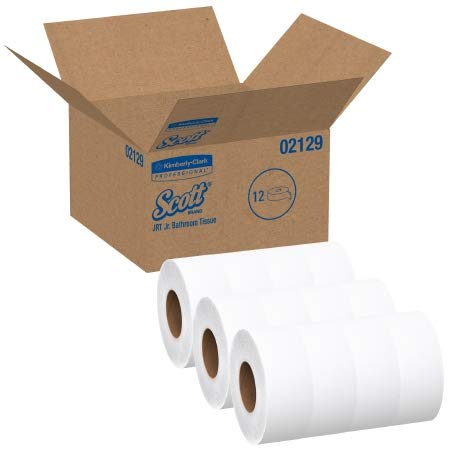 53594100 Scott Tradition JRT Jr. Toilet Tissue White 2-Ply Jumbo Size Cored Roll Continuous Sheet 3.55 Inch X 1000 Foot