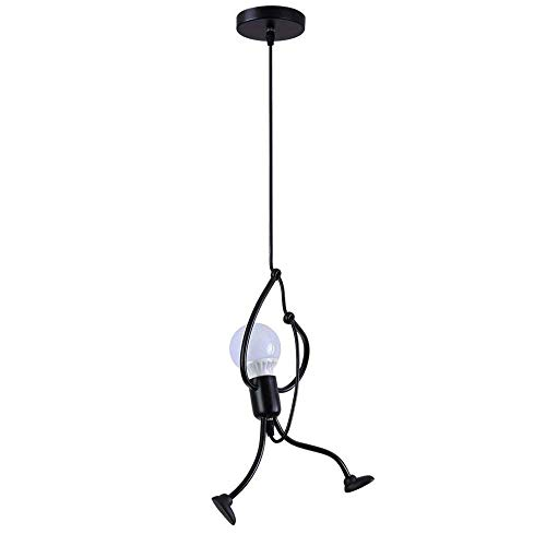 Industrial Metal Pendant Light, Creative Cartoon Ceiling Light Fixture, Indoor Hanging Lamp, Modern Minimalist Lamps for Bedrooms Loft Study Restaurant Entryway Foyer, E27, Bulb not Included (Pendant Creative)