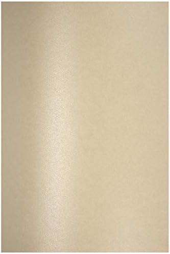 100 x Perlmutt-Sand 120g Papier DIN A4 210x297 mm Aster Metallic Sand Fein-Papier Bastel-Papier glänzend Perlglanz-Papier Effekt-Papier Pearl-Papier für Hochzeit Geburtstag Weihnachten Einladungen