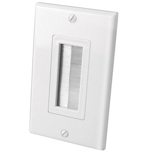 Vanco International 120817X Vanco Bulk Decor Style Brush Wall Plate 1 Gang White