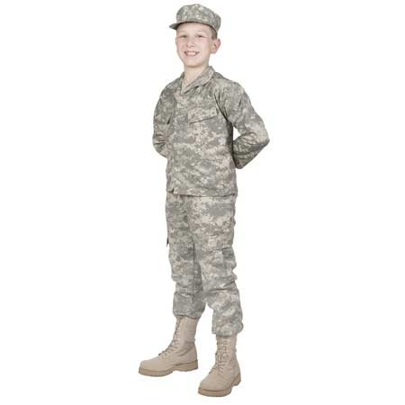 Child Army Uniform (Trooper 3 Piece Children's Uniform Set US Army ACU Digital Camo (L)