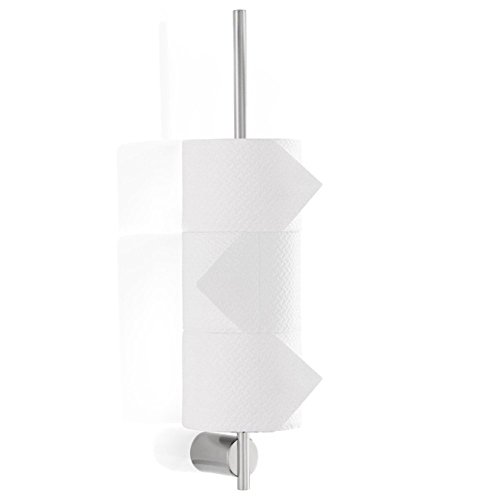 Modern Bathroom Blomus Duo Wall-Mounted Toilet Paper Holder - Brushed Stainless Steel