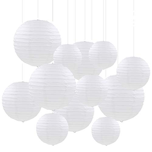 Sonnis Paper Lanterns 12 Pack with 12