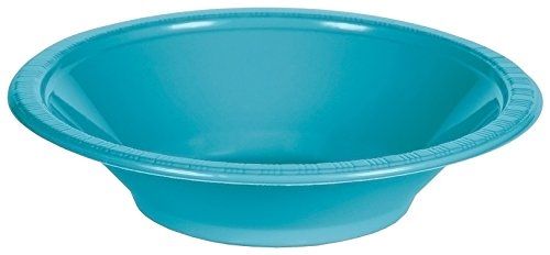Creative Converting 28103951 Plastic Solid Bowl (12 Pack) 12 oz Bermuda Blue