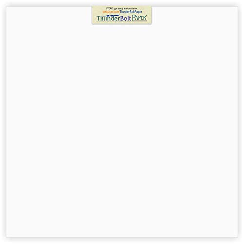 50 Bright White Smooth 80# Card Paper Sheets - 12